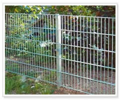 Metal PVC Coated Easily Assembled Metal Chain Link Mesh Fence